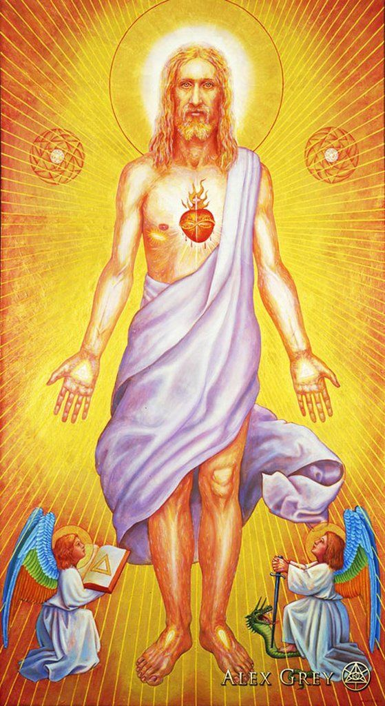 Poster Trippy Alex Grey Wall Poster Print Home Decor Wall