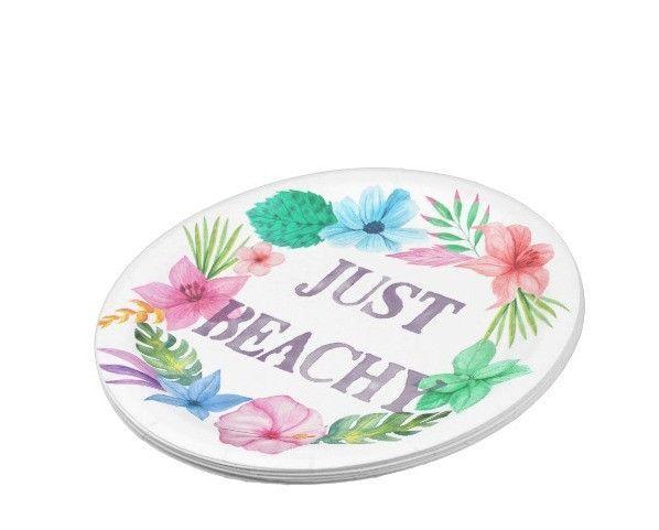 Tropical Theme Paper Plates for Luau Beach Party  sc 1 st  Pinterest & Tropical Theme Paper Plates for Luau Beach Party | Watercolors The ...