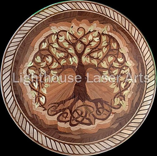 Tree Of Life Wood Flooring Inlay Design Also Great As Wall