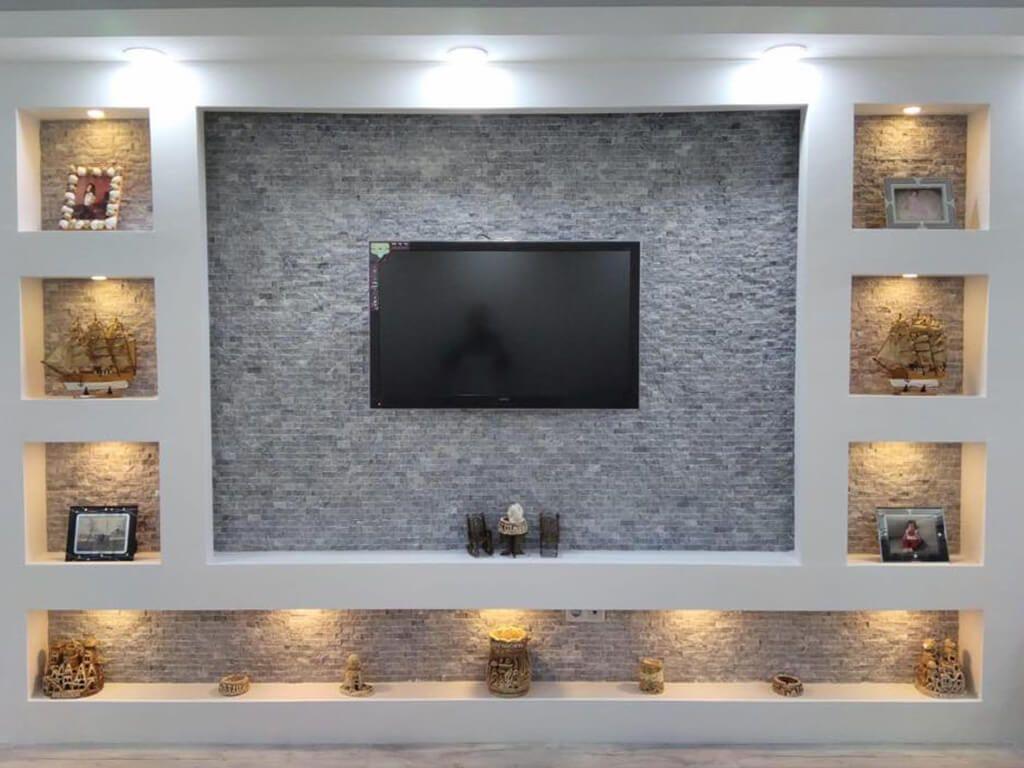 Dekoratif Doğal Taş Duvar Kaplama Dekor Taş Fileli Duvar Ürünleri Oturma Odası
