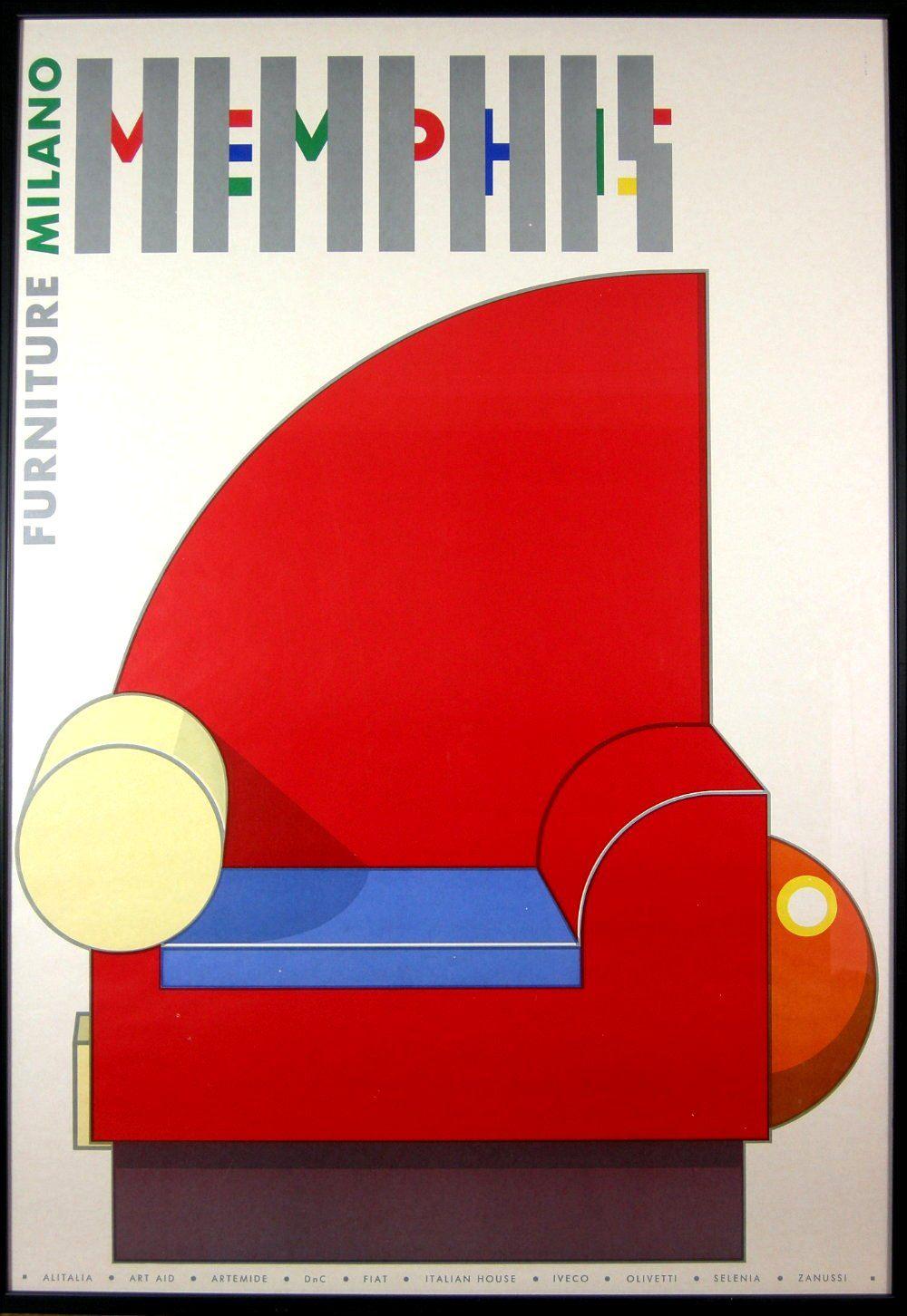 Design Is Fine: U201c Memphis Furniture Poster, Early U201d