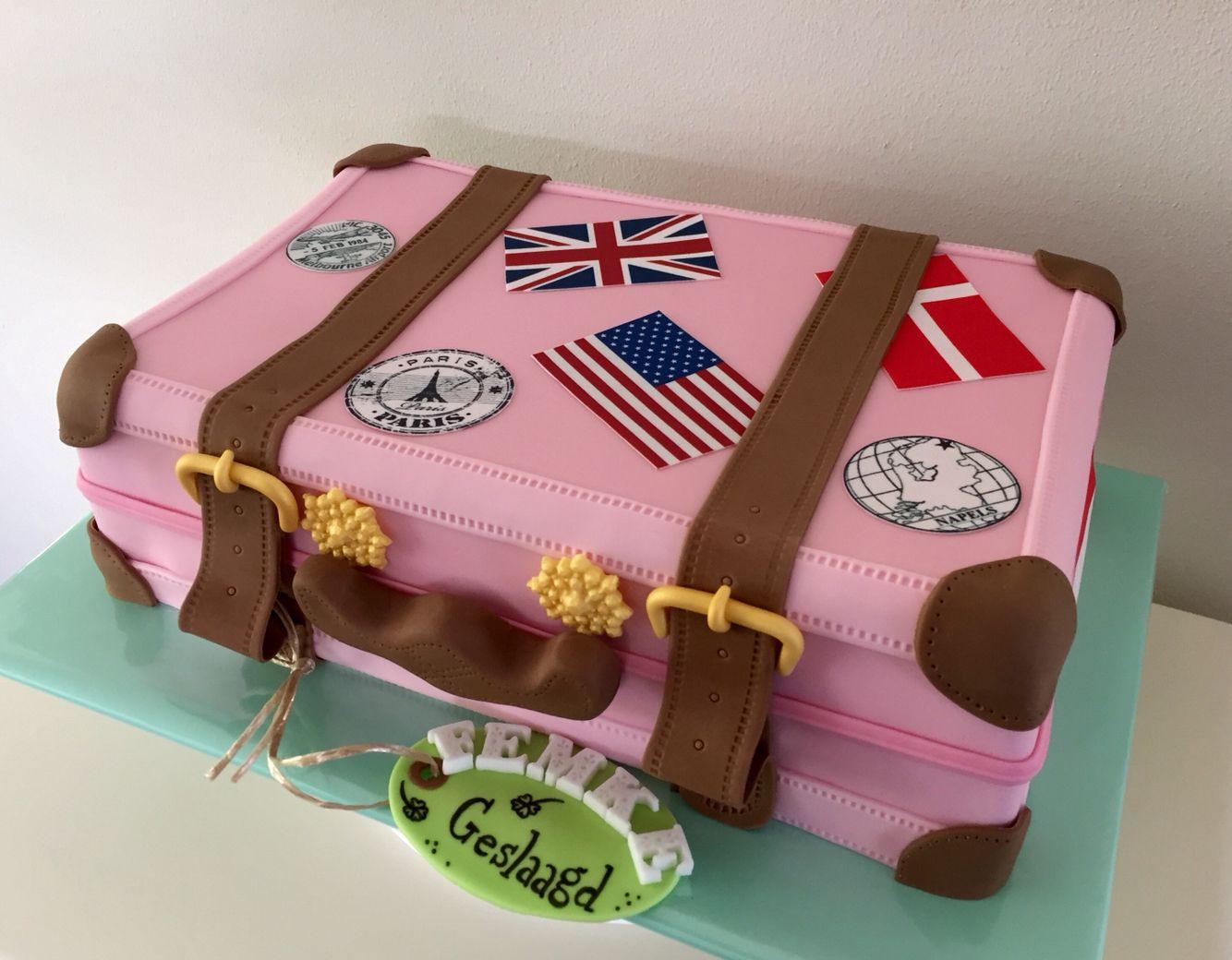 taart koffer Koffer taart door Sylvie Vencken | Cupcakes en taartjes | Pinterest taart koffer