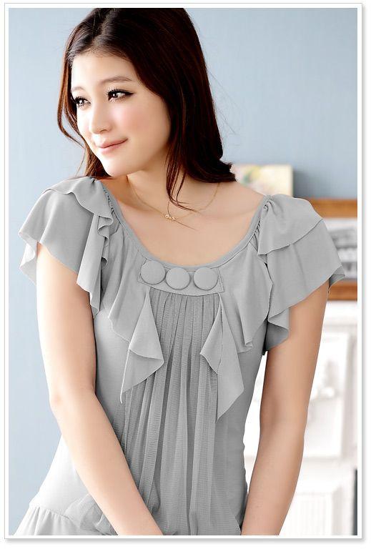 Wholesale T-Shirt J3453 Grey [T-Shirt J3453 Grey] - : YOCO