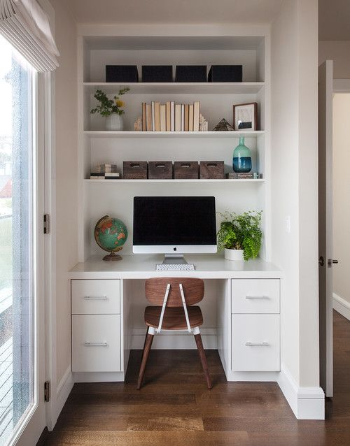 Mid Century Inspired Home Office Nook Small Space Office Home