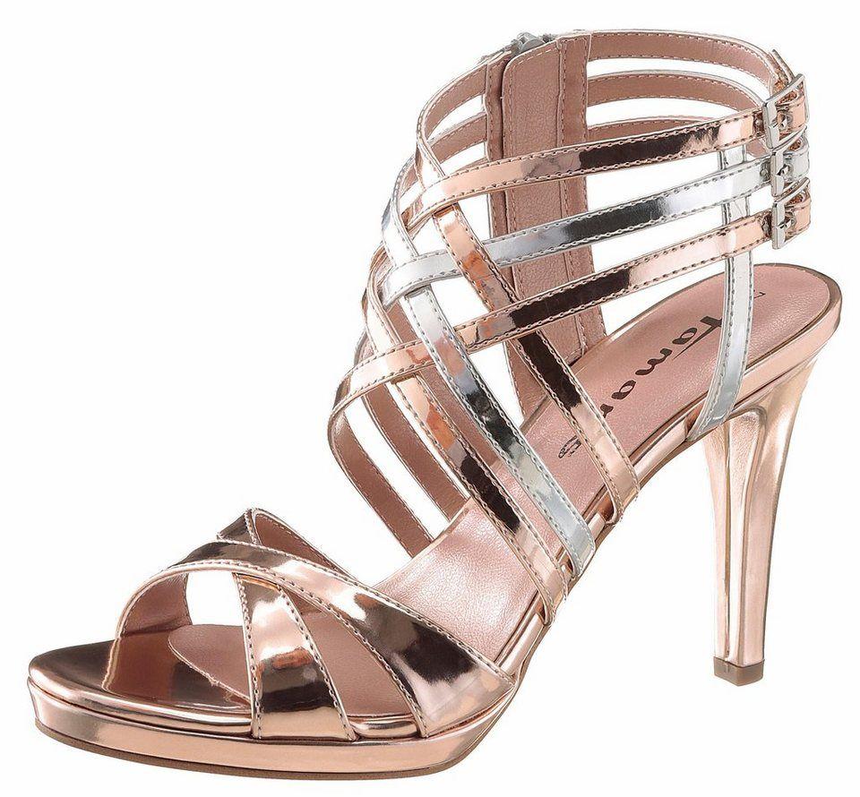 Tamaris Sandalette mit zarten Riemchen | Schuhe, Tamaris