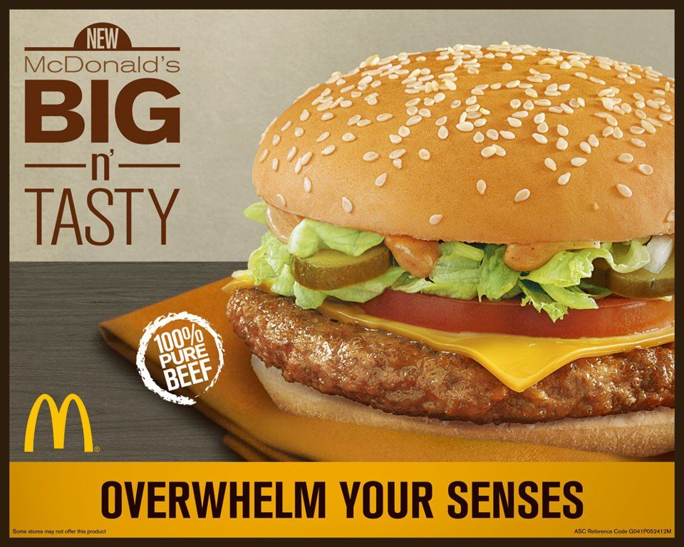 Masarap Delicious Big Tasty Mcdonald Menu Tasty