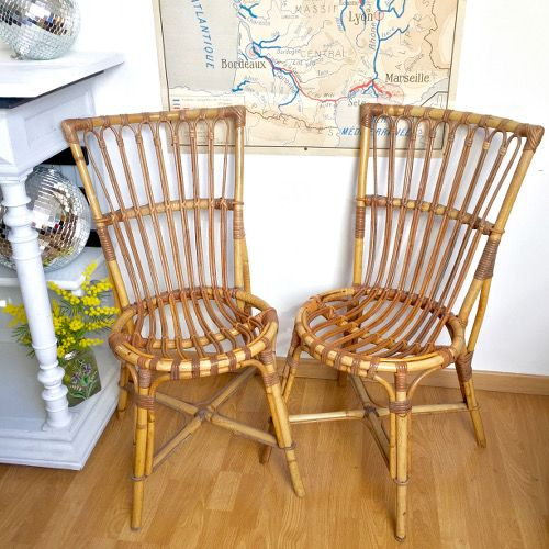 2 Chaises En Rotin Chaise Rotin Chaise Et Rotin