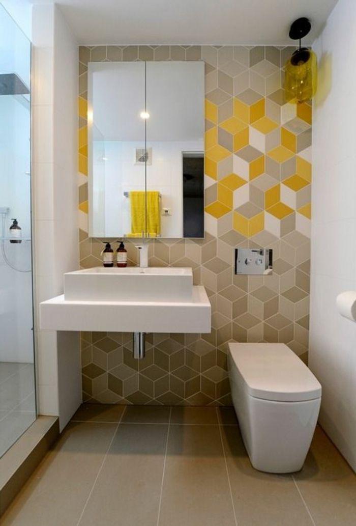 Bon Comment Bien Decorer Les Murs Dans La Salle De Bain Avec Un Joli Carrelage  Castorama Pas Cher
