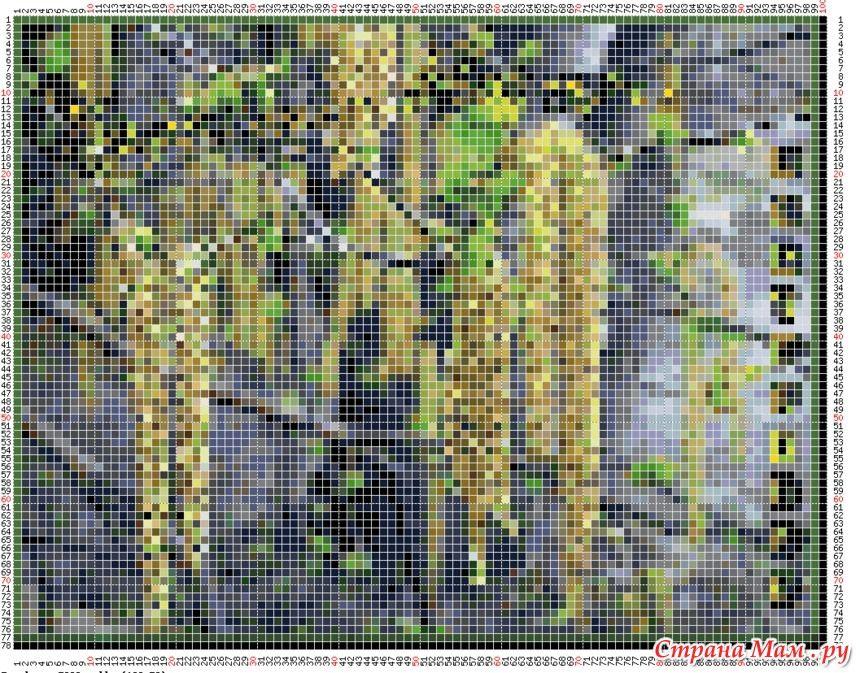 программа перевода любой картинки в схему для жакарда вышивки по