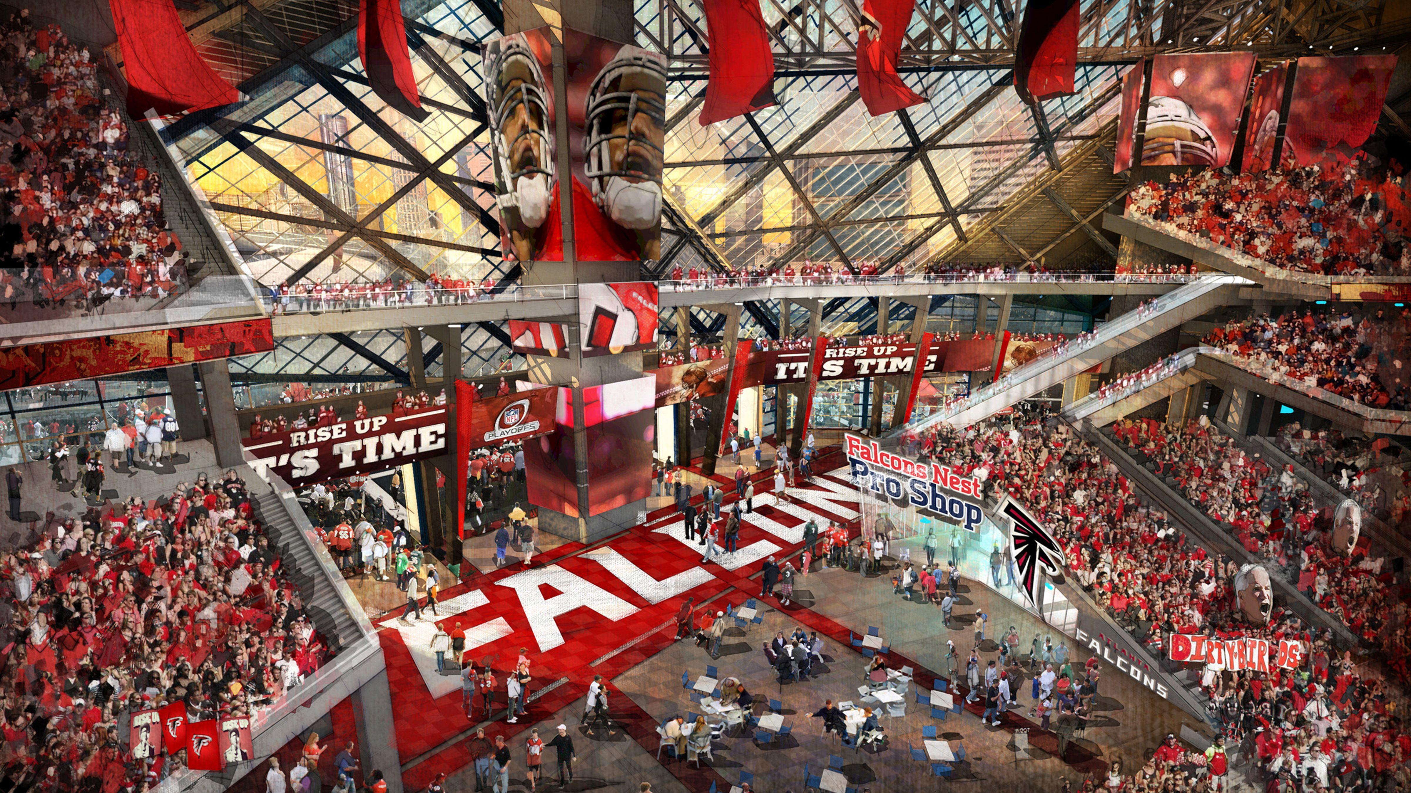 New Atlanta Stadium Architecture Design Atlanta Falcons Stadium Concept Design
