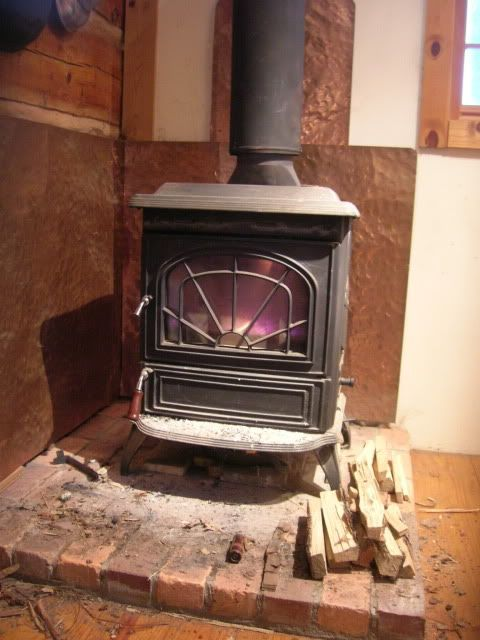 Post Up Pics Of Your Homemade Heat Shields Wood Stove Heat Shield Wood Stove Wood Stove Surround