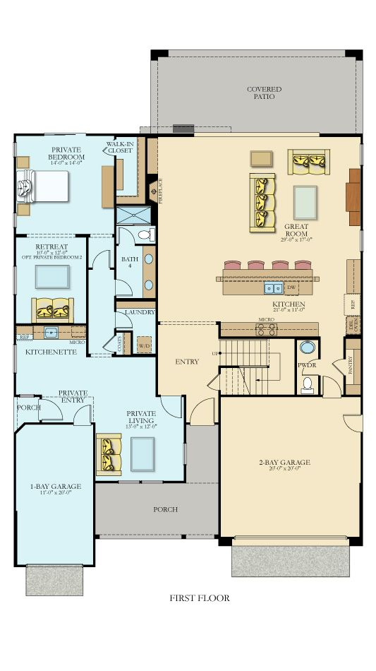 4122 Next Gen By Lennar New Home Plan In Rivervillage Classics House Plans Dream House Plans New House Plans