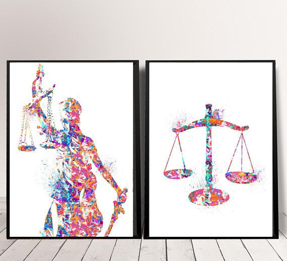Lawyers Office Decor Gift For Lawyers Justice Art Print Law Art