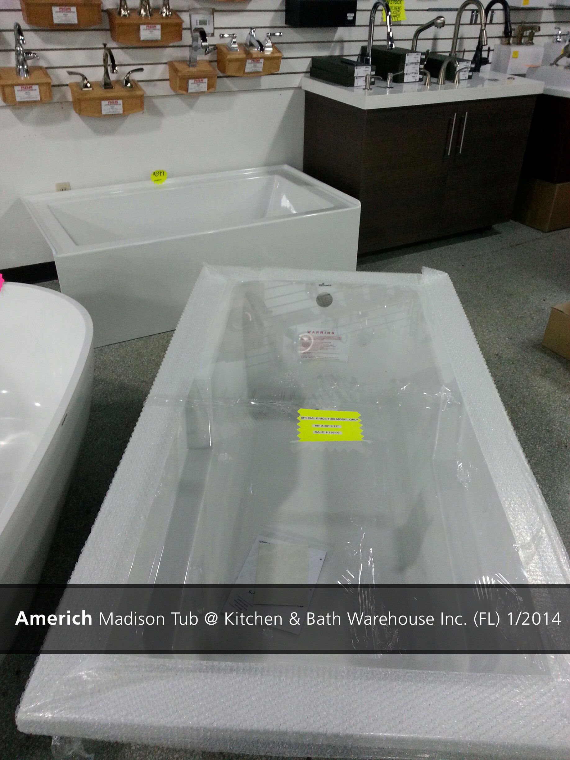 Americh Madison Tub @ Kitchen & Bath Warehouse Inc. (FL) - 2014 ...