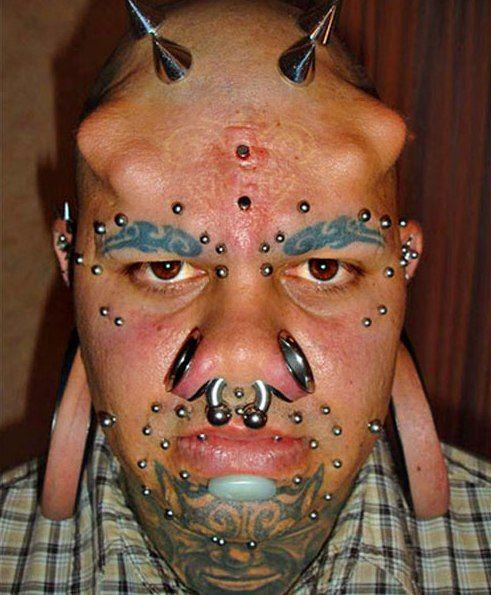 Image result for body piercings horn