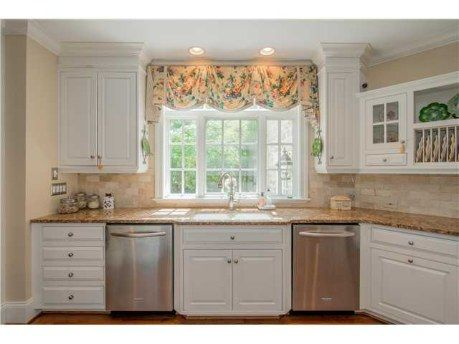 Cute Window Valance Over Kitchen Sink