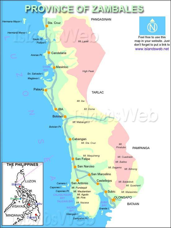 Map of Zambales Province Philippines  Must go travel