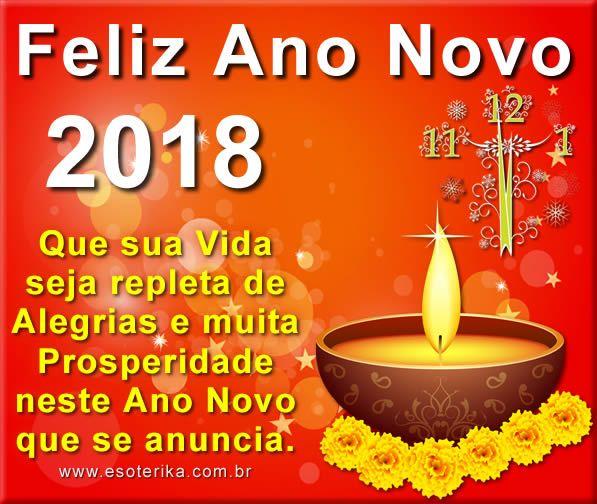 Feliz Ano Novo 2018 Mensagem Bom Dia Pinterest Mensagens De