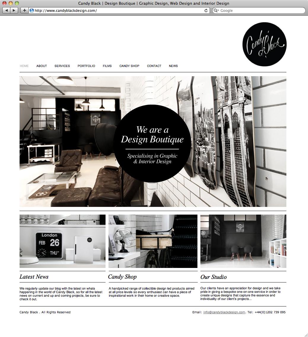 The portfolio of candy black a design boutique specializing in graphic interior design for Interior design portfolio websites
