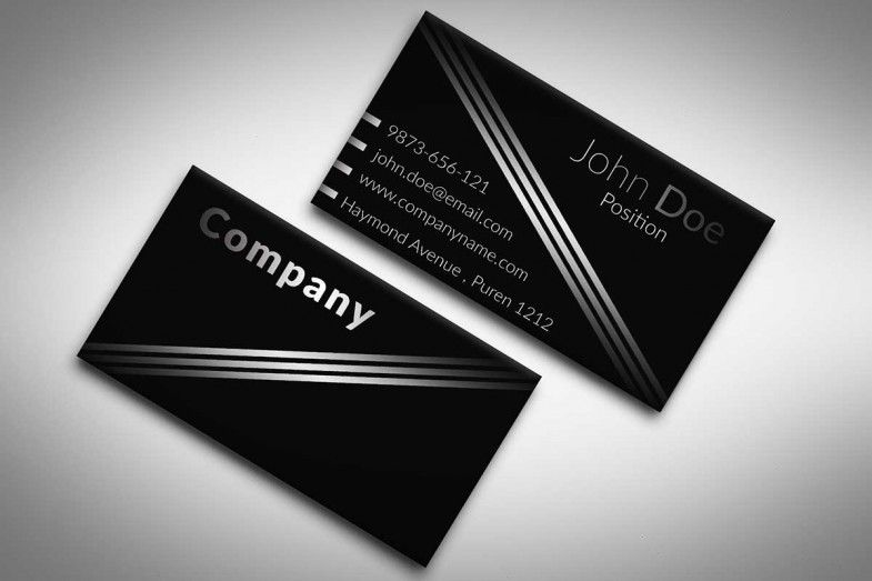 Elegant Black And White Business Card Template Suitable For Any Kind Of Business This Te Free Business Card Templates Free Business Cards Card Templates Free