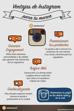 Ventajas de Instagram para tu marca... #Infografía #SocialMediaOP #Marketing…