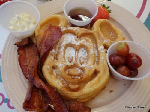 Carnation Cafe Mickey Waffle Disneyland Disney Theme Park Food