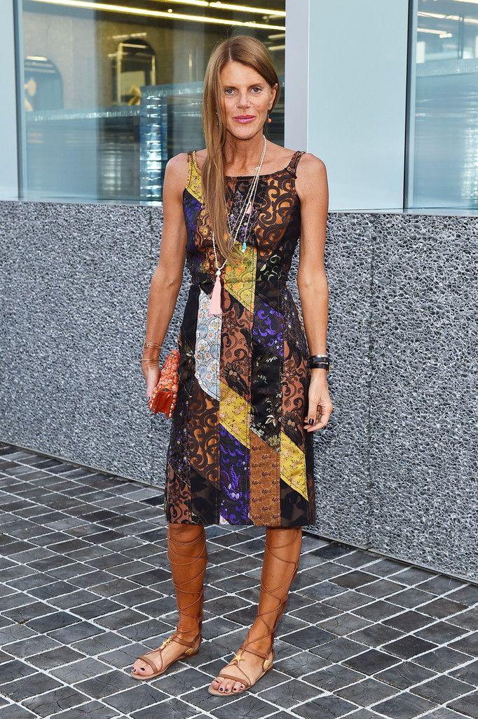patchwork Prada. AdR in Milan. #AnnaDelloRusso wears Prada SS15 dress #PradaCelebs