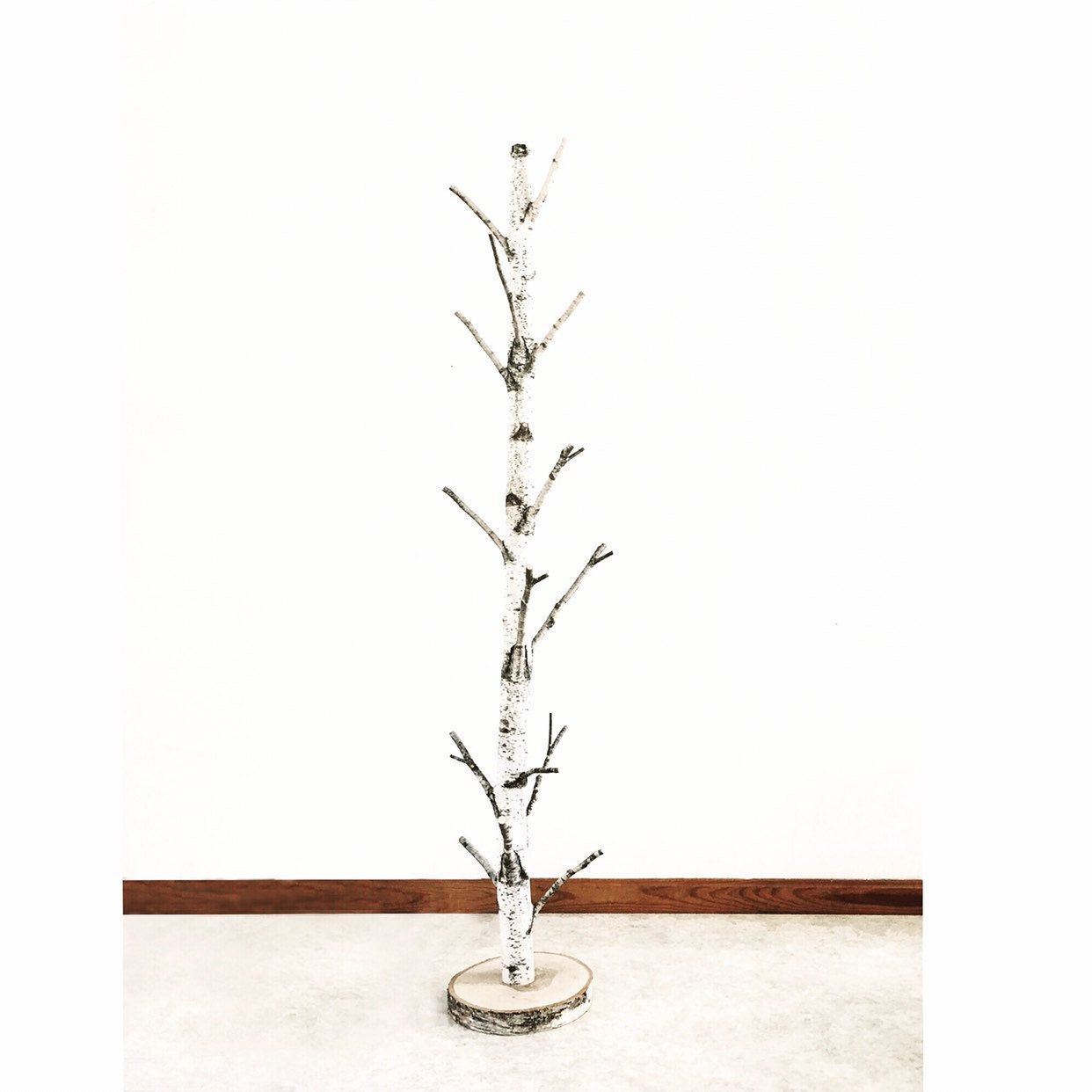 White Birch Tree Coat Rack With A Stand Birch Branch Birch Pole Birch Log Coat Rack Coat Tree Wood White Birch Trees Modern Rustic Decor Tree Coat Rack