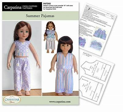 Image Result For American Girl Doll Clothes Patterns Free Printable Beauteous American Girl Doll Clothes Patterns Free