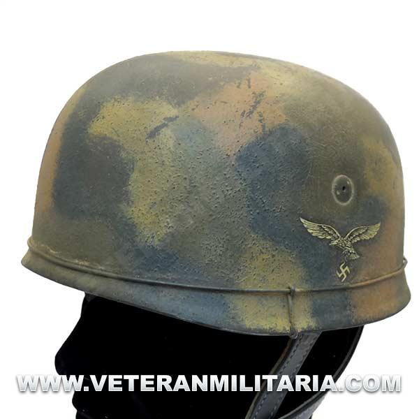 Casco M38 Fallschirmjager Camo Alambre Military Helmets Camo Helmet