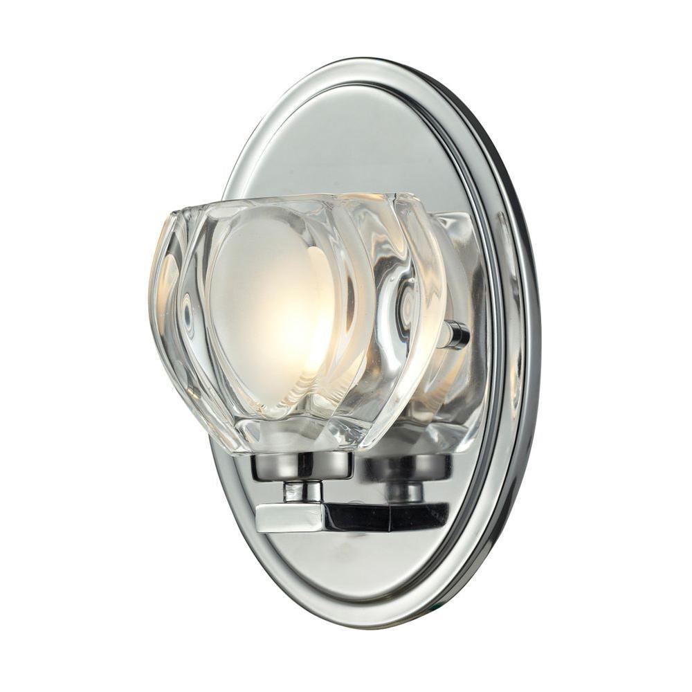 Photo of Filament Design Suave 1-Light Brushed Nickel Bath Vanity Light CLI-JB-027808 – The Home Depot