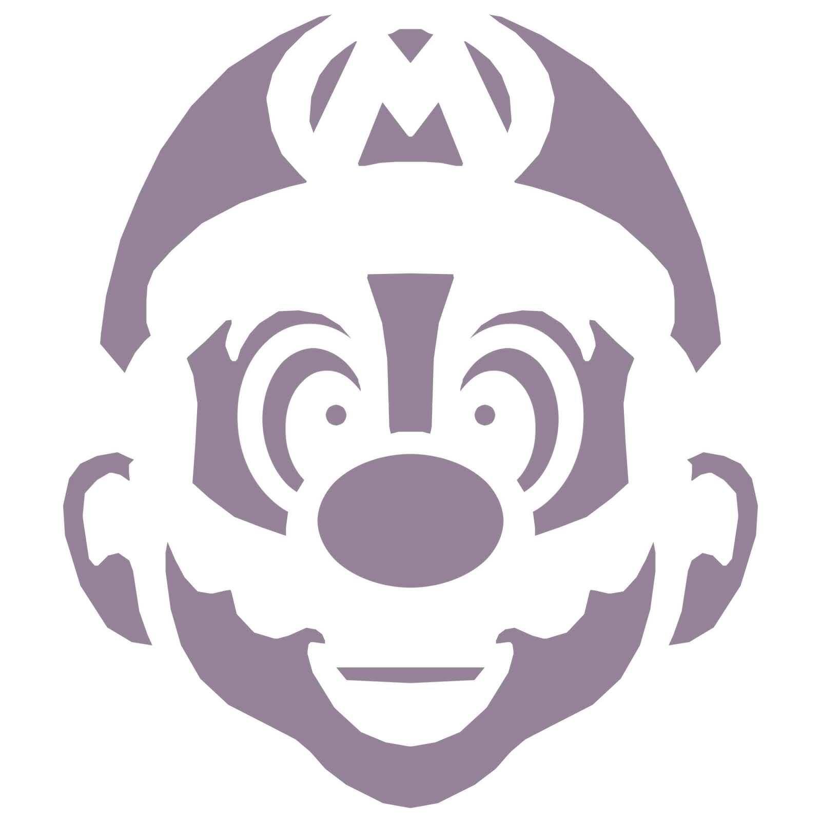Free+Pumpkin+Stencils | Mario Pumpkin - Spookify your pumpkin with a Mario pumpkin stencil!
