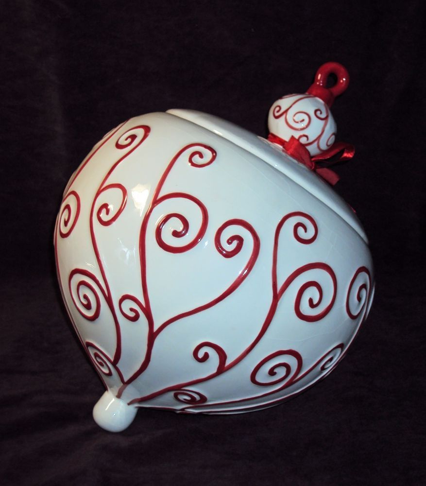 REAL HOME Christmas Ornament Cookie Jar | Cookie Canisters 5 ...