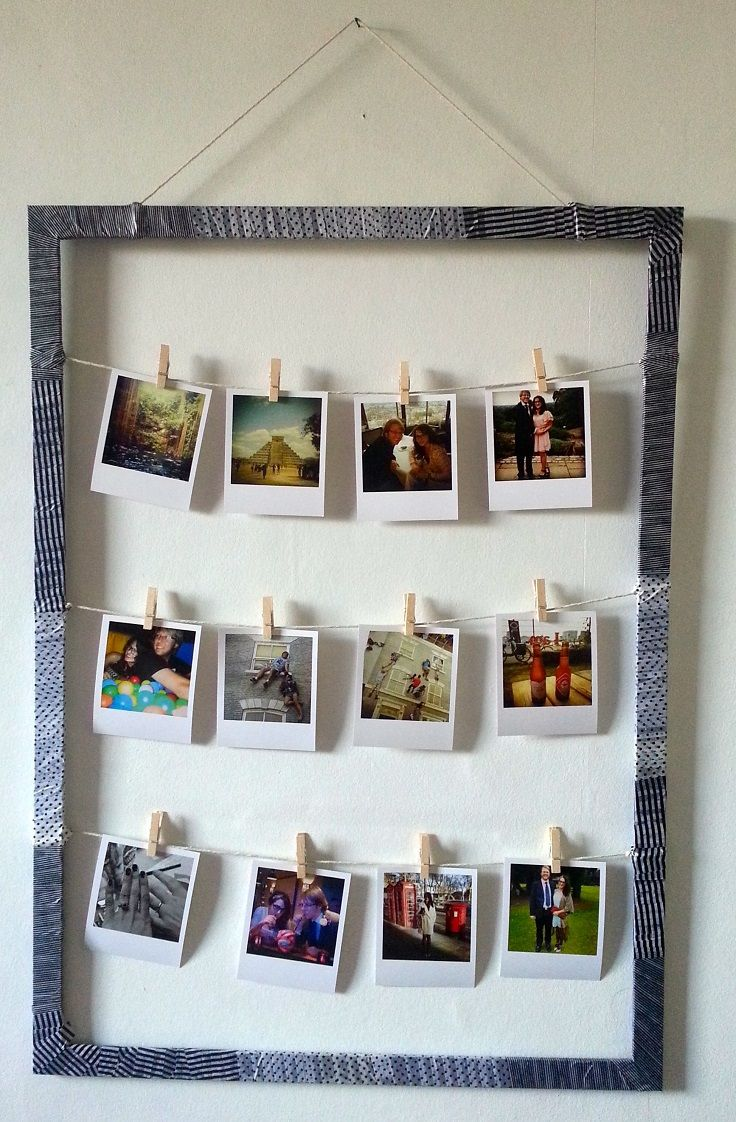 top 10 ways to decorate with polaroid display home decor and rh pinterest com