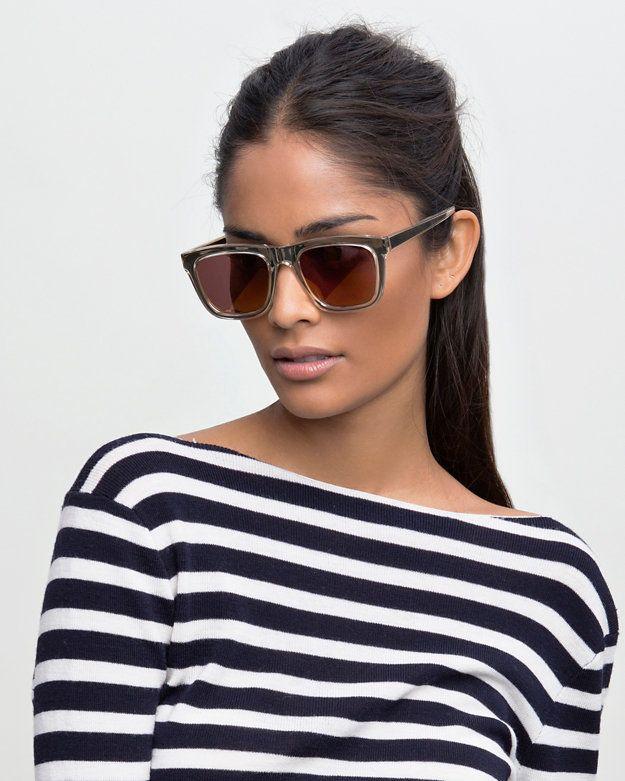 6d353dfb6d Karen Walker Deep Freeze Wayfarer Sunglasses   Shop IntermixOnline.com