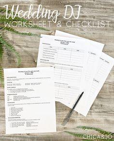 Wedding DJ worksheet and checklist to help organize your big day! #wedding #weddingreception #weddingmusic #weddingdj