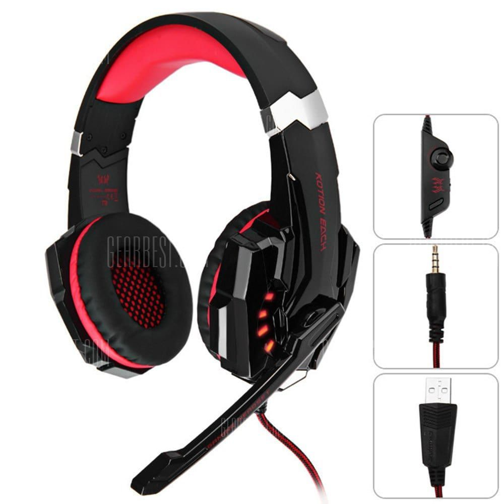 Over Ear Headphone Red with Black Gaming Headphones Sale