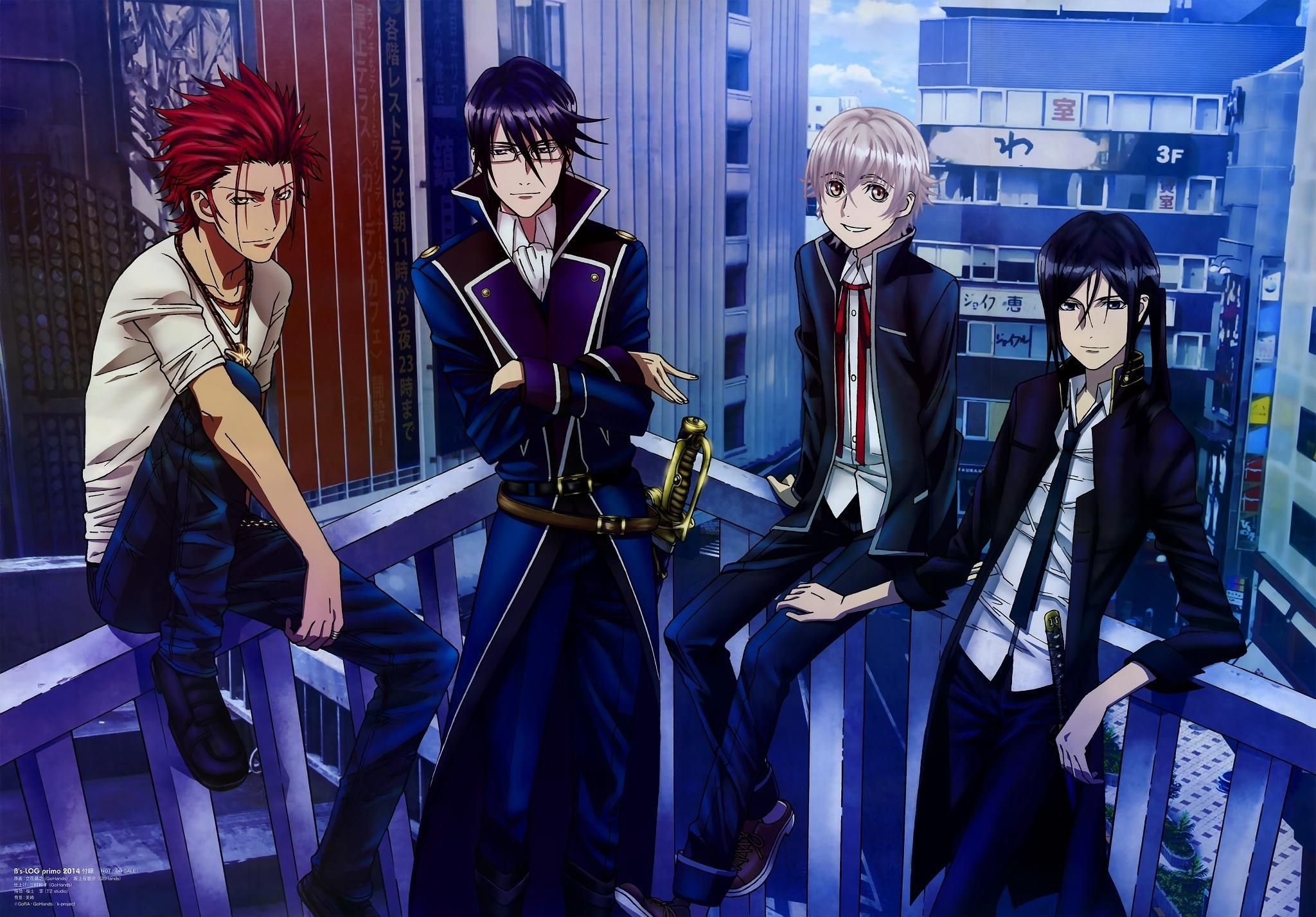 2048x1427 Anime K Project Mikoto Suoh Reisi Munakata