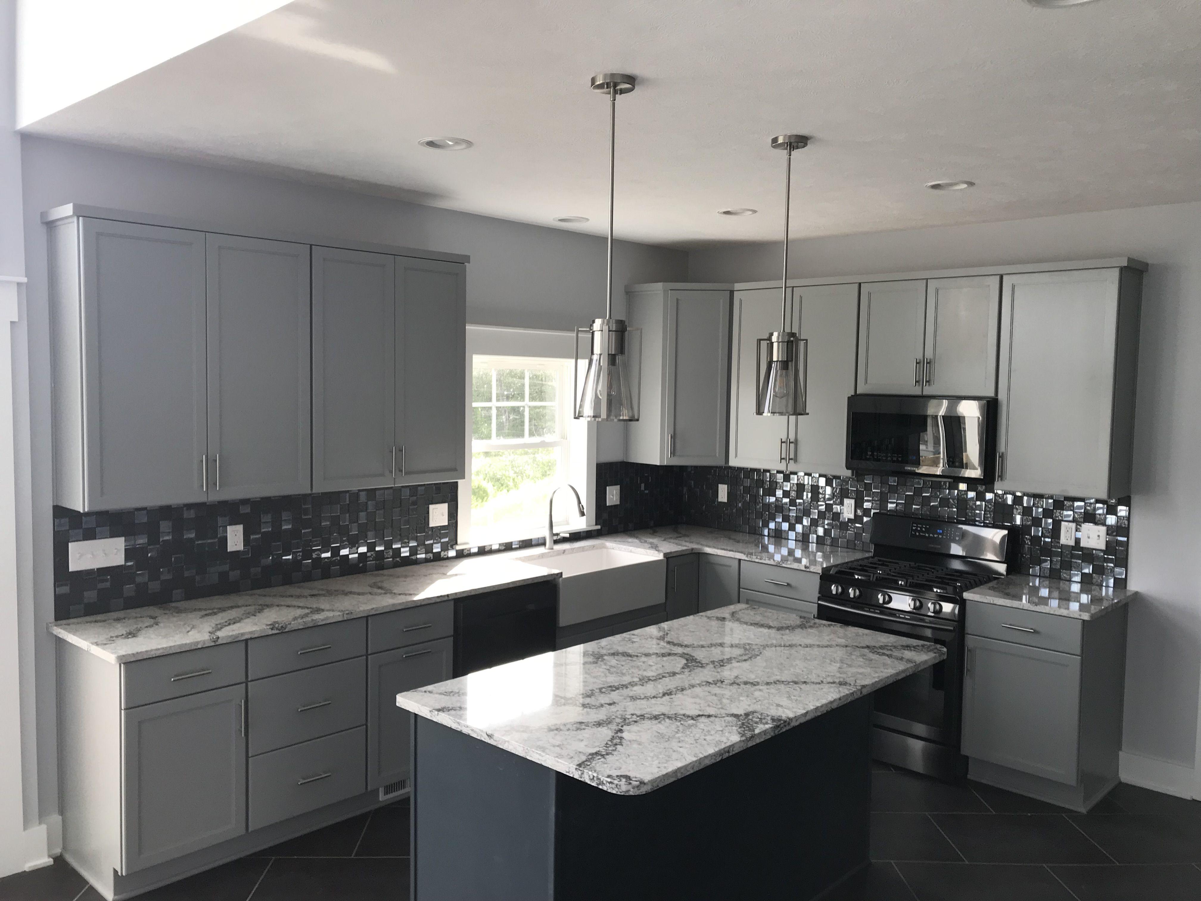 Fabulous New Kitchen Kemper Cabinets Juniper Berry Perimeter With Maritime Island Cambria Seagrove Counter Tops New Kitchen Kitchen Sweet Home
