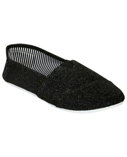 Zoey Glitter Canvas Shoe from WetSeal.com