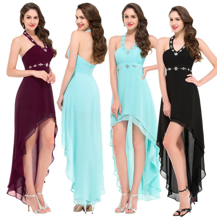 Chiffon wedding bridesmaid evening graduation prom dresses