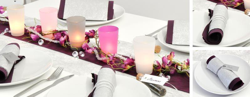 tischdekoration zur kommunion konfirmation in silber und beerent nen tischdeko kommunion. Black Bedroom Furniture Sets. Home Design Ideas