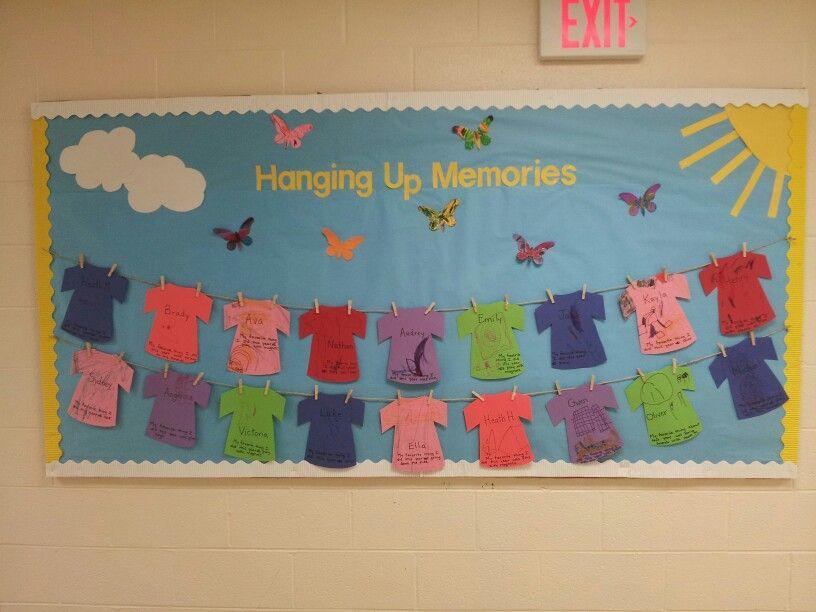 June Classroom Ideas : June bulletin board summer dreams use real clothespins