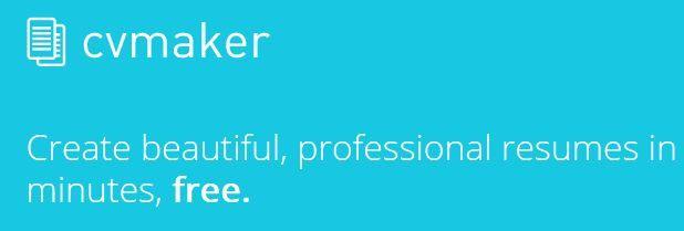 CVmkr online resume builder Resume Pinterest Online resume - online resume generator
