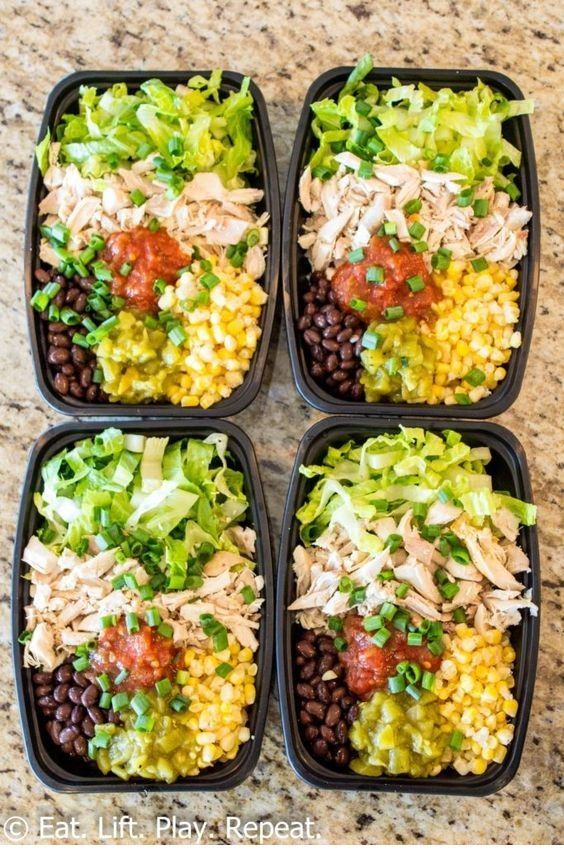 Eating Tips NoCook Meal Prep Burrito Bowls Meal prep burrito bowls make a great lunch to last the week plus this version requires zero cooking Have a