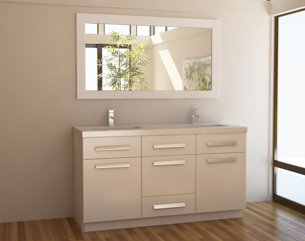 Design element jdsw moscony inch double sink vanity set in