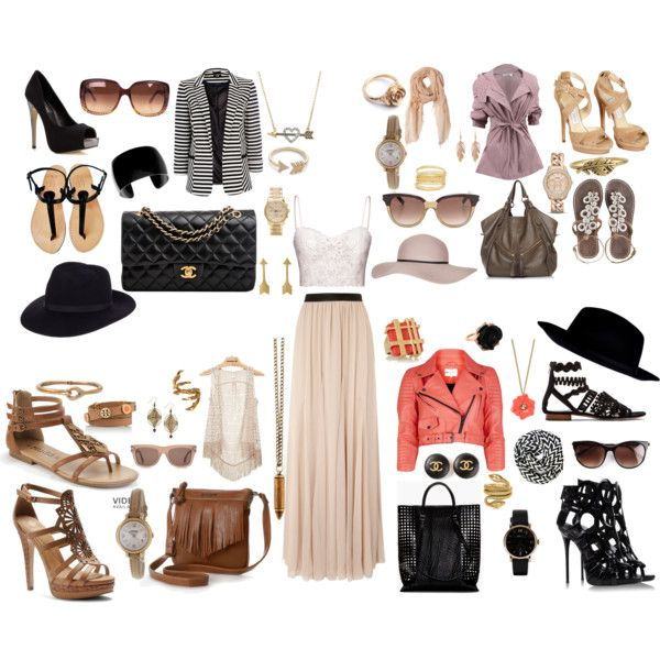 """""""One outfit four ways"""" by goaskalie on Polyvore"""
