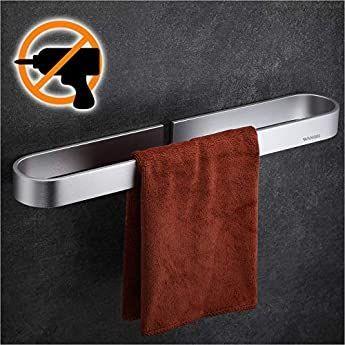 Prokira Handtuchhalter Handtuchhalter Massives Glanzendes Chrom In 2020 Handtuchhalter Handtuchhalter Ohne Bohren Handtuchstange
