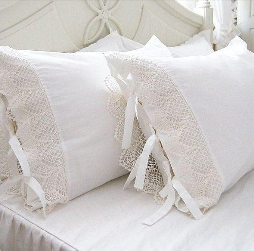 Time for Tea Pair of Handmade Pillowcases