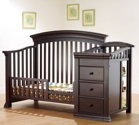 The Sorelle Verona Convertible Crib Changer In Espresso Will Be Perfectly Placed You Little Ones Nursery Converts From A To Toddler Bed